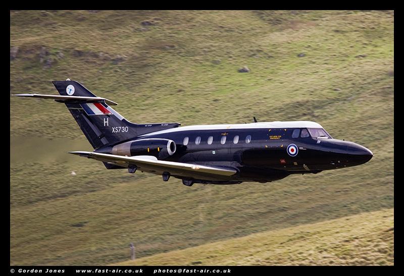 RAF Dominie T1 (XS730) low flying photo
