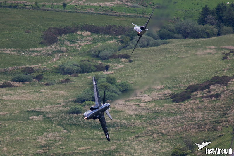 RAF Hawk T1 low level in formation photo