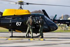 A crew change at RAF Shawbury