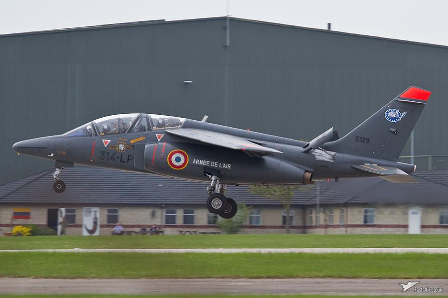 FAF Alpha Jet E129 314-LP landing