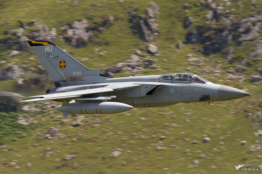 RAF Tornado F-3 ZE201 - 111 Sqn low level picture