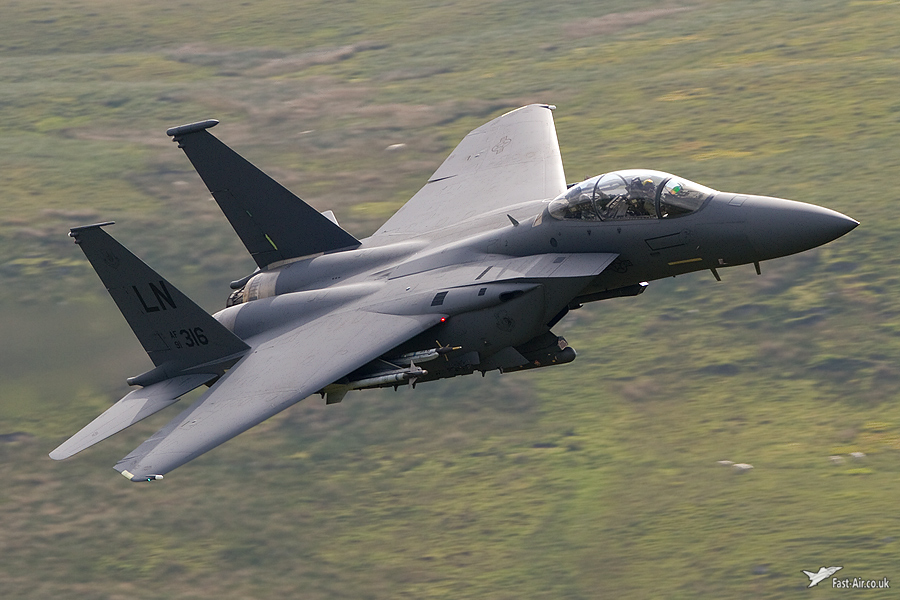 USAF Europe F-15E Strike Eagle 91-0316 low level picture