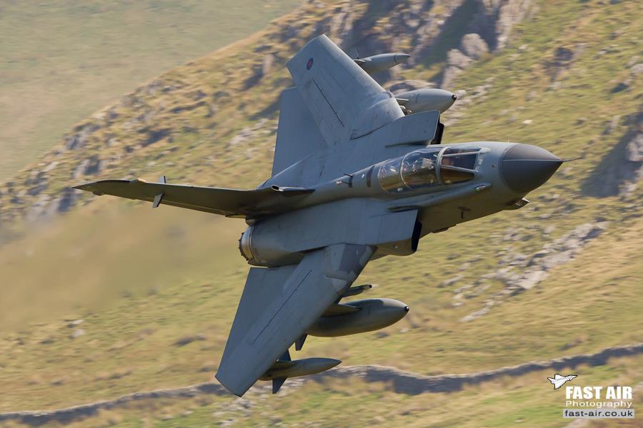 RAF Tornado GR4 ZA412 - 2 Sqn low level picture